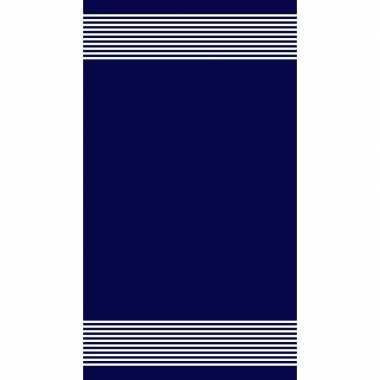 Blauw/wit badlaken hammam amelia 90 x 160