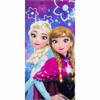 Disney frozen badlaken/badlaken paars/roze 70 x 140 cm