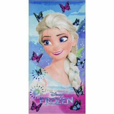 Disney frozen elsa vlinders badlaken/badlaken 70 x 140 cm