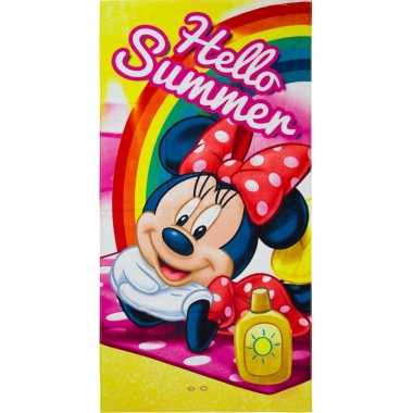 Disney minnie mouse summer badlaken/badlaken 70 x 140 cm