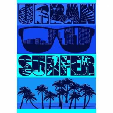 Extra groot badlaken urban surfer 140 x 200
