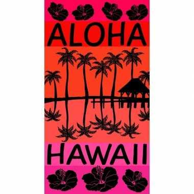 Gekleurd badlaken aloha 95/100 x 175