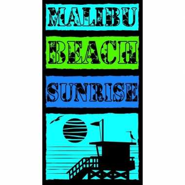 Gekleurd badlaken malibu beach 95/100 x 175