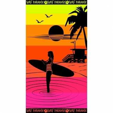 Gekleurd badlaken paradise sunset 95/100 x 175