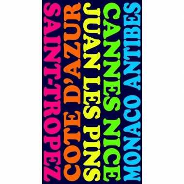 Gekleurd badlaken plages 95/100 x 175