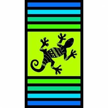Gekleurd badlaken sandy gekko 95/100 x 175