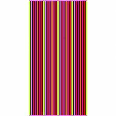 Gekleurd streepjes badlaken aruba verticaal 90 x 170