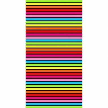 Gekleurd streepjes badlaken bora bora 90 x 170