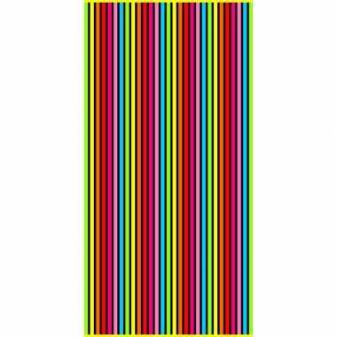 Gekleurd streepjes badlaken bora bora verticaal 90 x 170