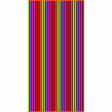 Gekleurd streepjes badlaken matira verticaal 90 x 170