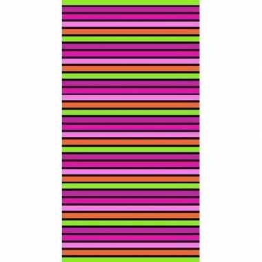 Gekleurd streepjes badlaken paloma 90 x 170