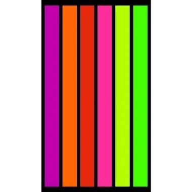 Gekleurd verticale streepjes badlaken 86 x 160