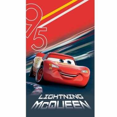 Katoenen badlaken met cars lightning mcqueen print 70 x120 cm