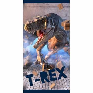 Katoenen badlaken met dinosaurus print 70 x140 cm