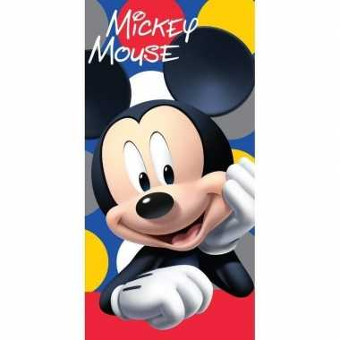 Katoenen badlaken met mickey mouse print 70 x140 cm