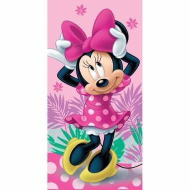 Katoenen badlaken met minnie mouse print 70 x140 cm