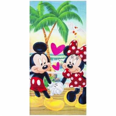 Mickey en minnie badlaken/badlaken 70 x 140 cm