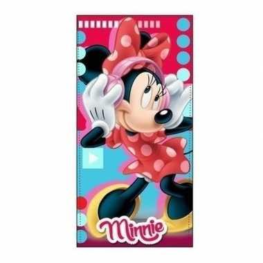 Minnie mouse badlaken/badlaken muziek 70 x 140 cm