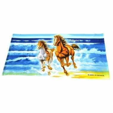 Paarden badlaken groot 150 x 70 cm