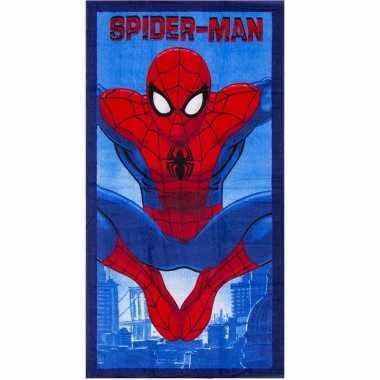 Spiderman badlaken 70 x 140 cm blauw