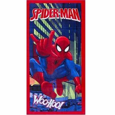 Spiderman badlaken 70 x 140 cm rood