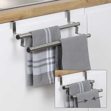 Verstelbare badkamer handdoek deur rek 40 cm