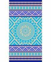Badlaken badlaken mandala print blauw 86 x 160