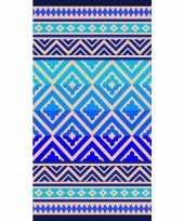 Badlaken badlaken met blauwe vormen 86 x 160