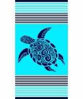 Badlaken badlaken turquoise met schildpad 90 x 170 cm