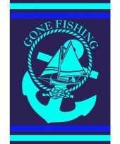 Extra groot badlaken gone fishing 140 x 200