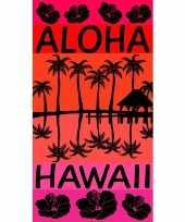 Gekleurd badlaken aloha 95 100 x 175
