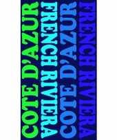 Gekleurd badlaken cote d azur 95 100 x 175