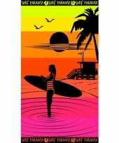 Gekleurd badlaken paradise sunset 95 100 x 175