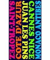 Gekleurd badlaken plages 95 100 x 175