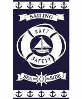 Gekleurd badlaken sailing 95 100 x 175