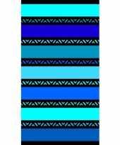 Gekleurd badlaken twisty blue 95 100 x 175