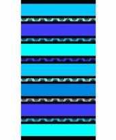 Gekleurd blauwe streepjes badlaken 86 x 160