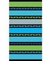Gekleurd groene streepjes badlaken 86 x 160