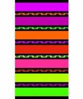 Gekleurd paarse streepjes badlaken 86 x 160