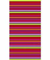 Gekleurd streepjes badlaken aruba 90 x 170