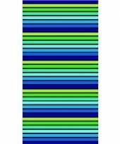 Gekleurd streepjes badlaken puka 90 x 170