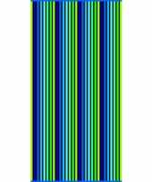 Gekleurd streepjes badlaken puka verticaal 90 x 170