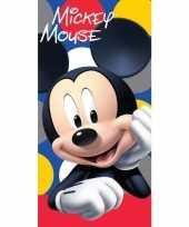 Katoenen badlaken met mickey mouse print 70 x140 cm 10154897