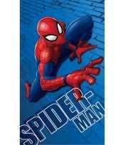 Katoenen badlaken met spiderman print 70 x120 cm