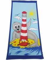Kinder badlaken zeehond 70 x 150 cm