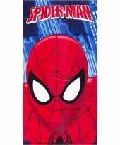 Marvel spiderman gezicht badlaken badlaken blauw 70 x 140 cm