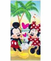 Mickey en minnie badlaken badlaken 70 x 140 cm