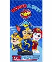 Paw patrol heroes badlaken badlaken blauw 70 x 140 cm